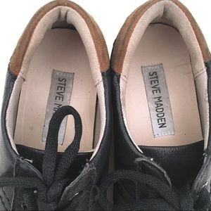 Steve Madden Shoes - STEVE MADDEN Black & Brown Suede Sneakers Size 6